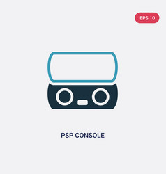 two color psp console icon from technology vector image