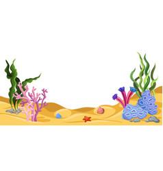 Underwater world marine life vector