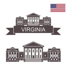 virginia vector image
