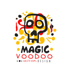 voodoo african and american magic logo with mystic vector image