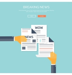 with flat newspapers News and vector image