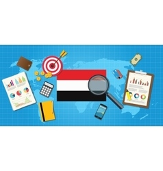 Yemen yaman economy economic condition country vector