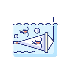 Zooplankton net rgb color icon vector