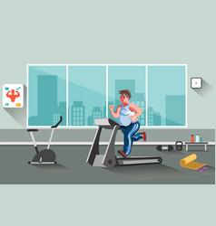 sport fitness man vector image