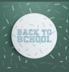 Back to school circle design element vector