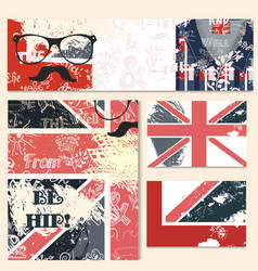 corporate identity templates set in hipster style vector image