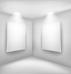 Frames in empty room vector image vector image
