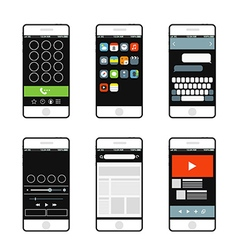 Modern smartphone interface elements vector image vector image