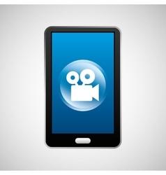 smartphone movie social network media icon vector image