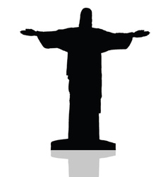 statue of Christ the redeemer in Rio de Janeiro vector image