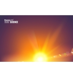 Sun with lens flare vector image vector image