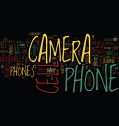 the pro s and con s of camera cell phones text vector image vector image