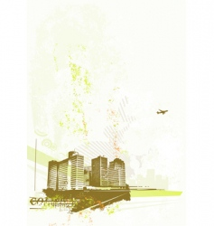 urban retro abstract background vector image vector image