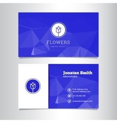 Elegant flowers shop business card template vector