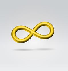 golden metal infinity sign vector image vector image