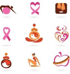 motherhood icons vector image