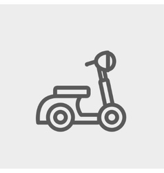 Scooter thin line icon vector image