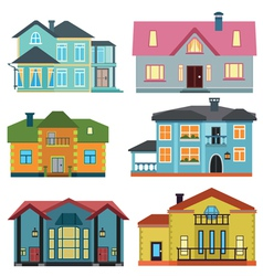 Set of cottage for infographics vector image