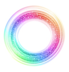 Abstract colorful smooth light circle background vector image vector image