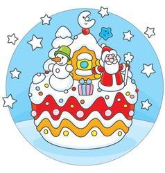 Christmas cake vector image vector image
