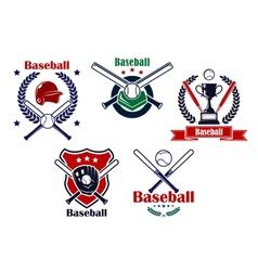 Colored Baseball emblems and badges vector image