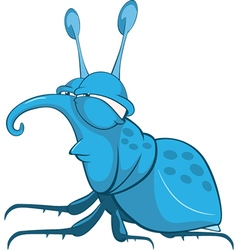 Funny Bug Cartoon Character vector image vector image