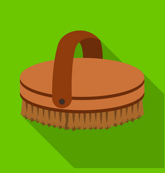 Horse body brush icon in flat style isolated on vector