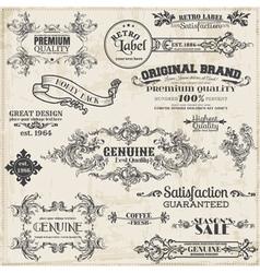 Page Decoration Vintage Frame collection vector image vector image