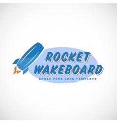 Rocket Wake Board Abstract Cable Park Logo vector image