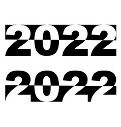 2022 happy new year black and white banner vector