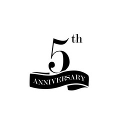 5 anniversary sign element of anniversary sign vector image