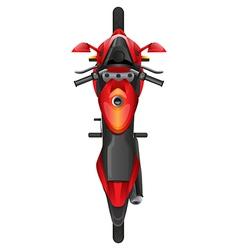 A topview of motor bike vector