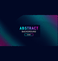 abstract digital blue and purple dot effect vector image