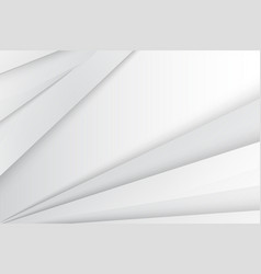 abstract white gray gradient geometric background vector image