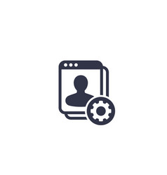 Account settings icon vector