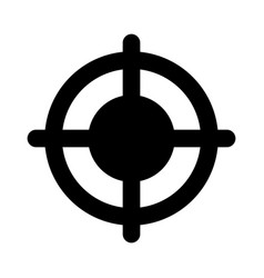 accuracy targeting and aim focus point center vector image