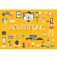 ADVERTISING FLAT vector image