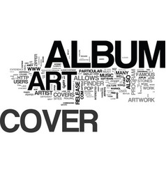 Album cover art part two text word cloud concept vector