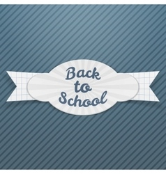 Back to School Sale paper Tag with Text vector image