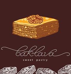 Baklava sweet pastry 2 vector