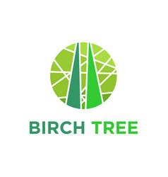 Birch tree mosaic logo design vector