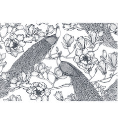 black and white seamless pattern of vector image