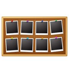 Blank photo frames vector image vector image