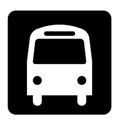 Bus Sign vector image