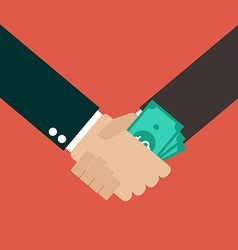 Business Corruption Handshake vector