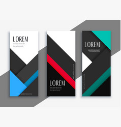 Business style geometric banner design vector
