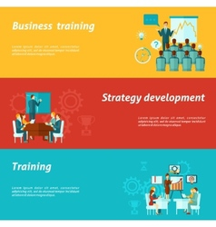 Business Training Banners vector