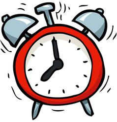 cartoon doodle alarm clock vector image