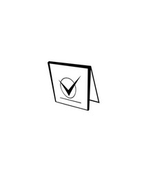 Check mark on a book logo designs inspiration vector