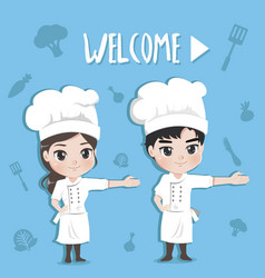 chef welcome vector image